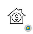 money house icon real estate investment symbol vector image