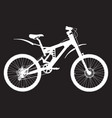 mountain bike silhouette vector image vector image