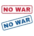 No War Rubber Stamps vector image