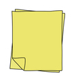 Notebook Paper drawing vector image