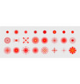 pain red circle or localization mark aching place vector image