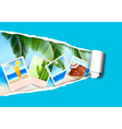 photo ripped papper vector image vector image