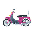 pink scooter motor bike vehicle side view flat vector image vector image