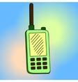 portable radio sets pop art vector image