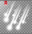 rain comets isolated on transparent vector image vector image