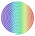 rainbow round abstract vortex hypnotic spiral vector image
