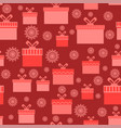 red wrapping christmas seamless paper with vector image