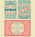 retro card set of 4 templates vetor layered vector image vector image