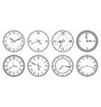 retro clock face antique elegant dial with vector image vector image