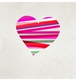 Retro heart made from color stripes EPS 8 vector image