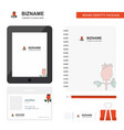 rose business logo tab app diary pvc employee vector image vector image