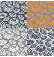 Seamless pattern rugby ball vector image vector image