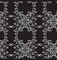 seamless vintage decorative pattern with a white vector image vector image