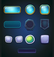 set a different colored buttons vector image