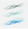 set abstract color smoke wave transparent smooth vector image vector image