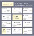 set of 12 gun creative busienss card template vector image vector image