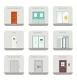 Set of doors icons vector image vector image