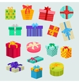 Set of Gifts Boxes Design Flat vector image vector image