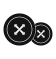 Sewing buttons icon vector image vector image