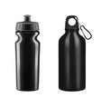 sports water bottles on white background il vector image vector image