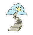 stairway to heaven vector image vector image