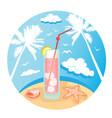 summer time design 2 vector image vector image