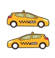 Taxi car icon flat line Pop vector image
