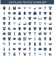 textile icons vector image vector image