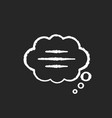 thought bubble chalk white icon on black vector image