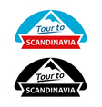 Tour to Scandinavia Set of Badges vector image vector image