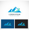 triangle mountain abstract logo vector image vector image