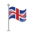 united kingdom patriotic flag isolated icon vector image