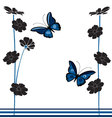vintage-butterflies-and-flowers vector image vector image