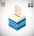Voting Box and Ballot Election 2016 vector image vector image