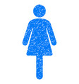 woman grunge icon vector image vector image