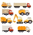 Work Trucks Flat Set vector image vector image