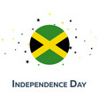 independence day of jamaica patriotic banner vector image
