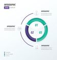 Circle infographic 2 color violet blue vector image