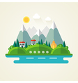Nature landscape flat icon vector image