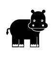 wild hippopotamus isolated icon vector image