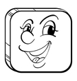 A cube with a happy face vector image