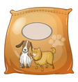 A pack of dogfoods with an empty label vector image vector image