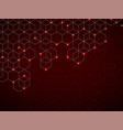 abstract geometric background with glowing cubes vector image vector image