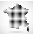 Abstract map of France from round dots vector image vector image