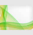 abstract waved line background vector image vector image