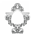 Baroque Rococo Exquisite Mirror frame decor vector image vector image