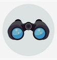 binoculars with clear blue lenses icon vector image