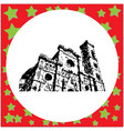black 8-bit florence cathedral santa maria del vector image vector image