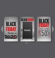 black friday deals realistic mobile web vector image vector image
