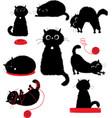 black kitty playing vector image vector image